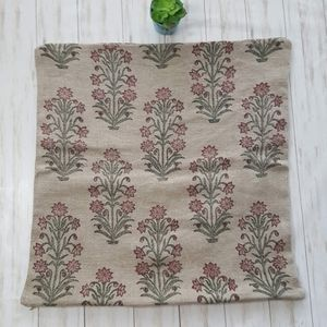 Pottery Barn linen floral pillow cover 26X26